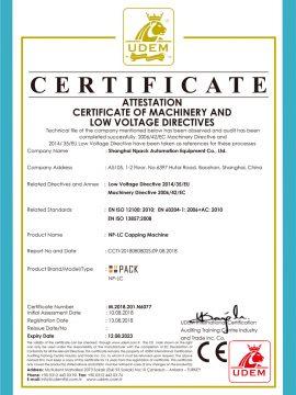 CE-certificaat van aftopping machine