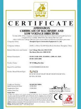 CE-certificaat van vulmachine