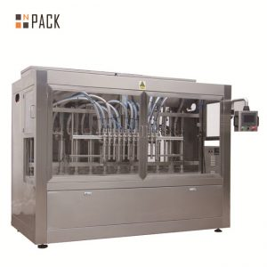 Automatische 8 vulmondstukken vloeistof / pasta / saus / honing vulmachine