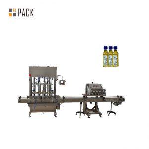 Automatische 1-5L zuiger fles jar smeerolie vloeistof vulmachine