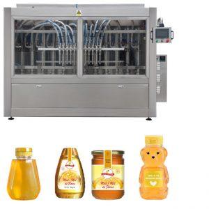 Automatische servozuiger Type saus Honingjam Hoge viscositeit Vloeibare vulling Aftopping Etiketteringsmachine Lijn